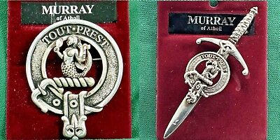 Murray of Atholl Scottish Clan Crest Badge or Kilt Pin Ships free in US