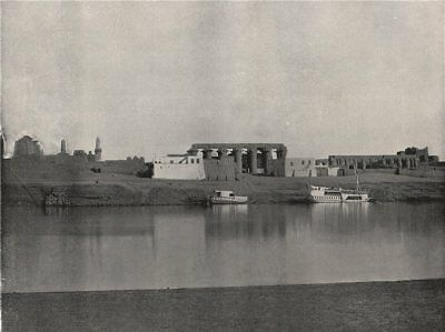 LUXOR. View from the opposite bank, showing temple. Egypt 1895 old print