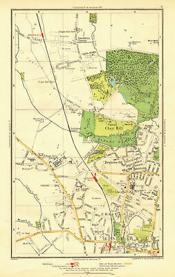 ENFIELD. Clay Hill Chase Side Gordon Hill Crews Hill Brigadier Hill 1937 map