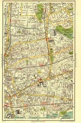 EAST END. Shoreditch Bethnal Green Stepney Hackney Mile End Haggerston 1937 map