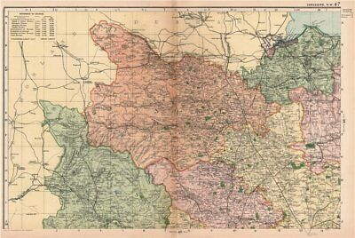 YORKSHIRE (NORTH WEST). Showing Parliamentary divisions & parks. BACON 1901 map