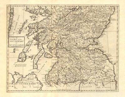 SOUTHERN SCOTLAND. by ANDREW JOHNSTON from Camden's Britannia 1772 old map