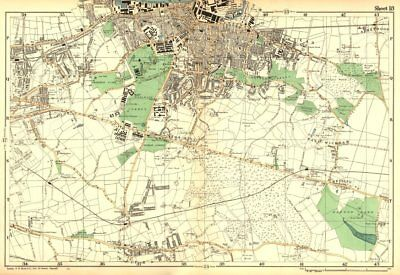 WOOLWICH. Charlton,Eltham,Bexley,Plumstead,Shooters Hill, G'wich.BACON 1902 map