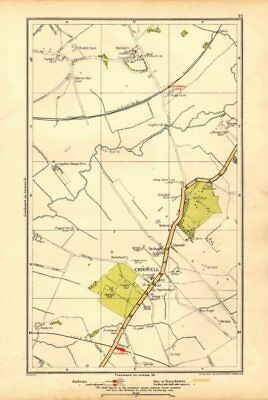 ESSEX. Chigwell, Loughton, Debden, Patch Park, River Roding 1928 old map