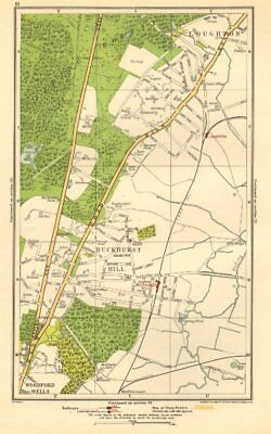 ESSEX. Buckhurst Hill, Loughton, Woodford Wells, Roding Valley 1923 old map