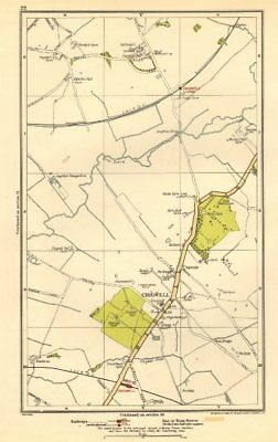 ESSEX. Chigwell, Loughton, Debden, Patch Park, River Roding 1923 old map