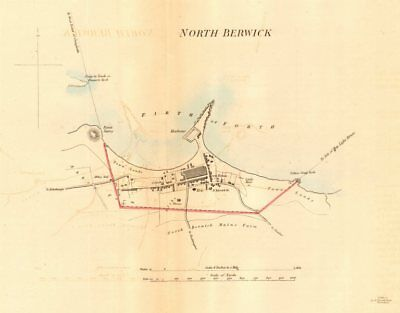 NORTH BERWICK borough/town plan for the REFORM ACT. Scotland 1832 old map
