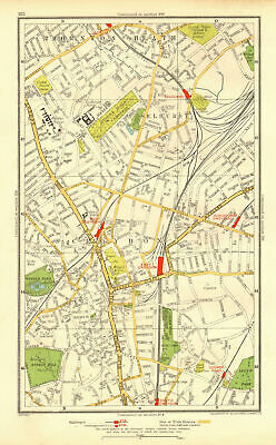 CROYDON. Selhurst Thornton Heath Addiscombe Road Wandle Park Duppas 1937 map