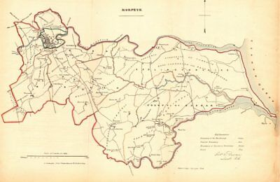 MORPETH borough/town plan. REFORM ACT. Bedlington Northumberland.DAWSON 1832 map