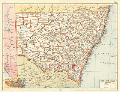 NEW SOUTH WALES. Counties Railways. Sydney plan.Commonwealth Territory 1920 map