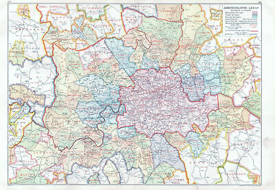 LONDON. Administrative Areas. Municipal Boroughs Local Authorities 1933 map