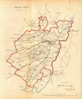 WELSHPOOL/Y TRALLWNG borough/town plan. REFORM ACT. Wales. DAWSON 1832 old map
