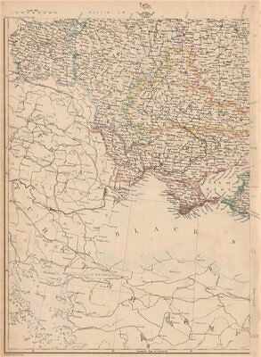 RUSSIA IN EUROPE SW. Ukraine & Poland. JW LOWRY for the Dispatch atlas 1862 map