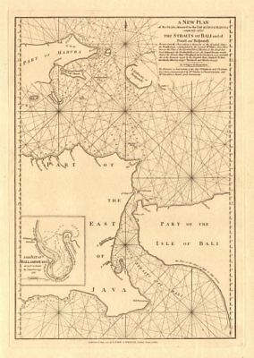 'The Straits … to the East of Java'. Bali Straits. LAURIE & WHITTLE 1794 map