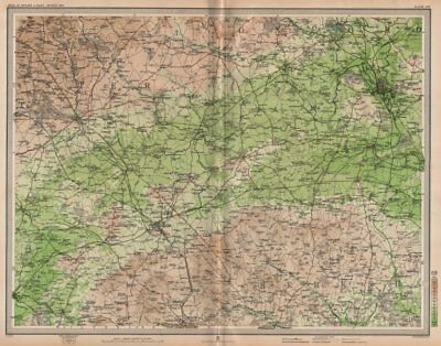 UPPER THAMES VALLEY. Swindon Oxford Berks Downs Cirencester Cotswolds 1903 map