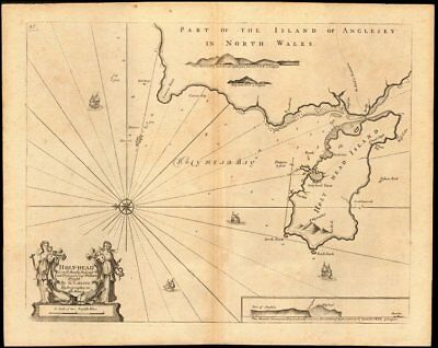 'Holy-Head' sea chart. Holy Island & HOLYHEAD, Anglesey. Capt. COLLINS c1774 map