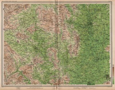 WELSH MARCHES. Hereford Worcester Malvern Cheltenham Gloucester. LARGE 1903 map