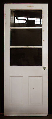 "32""x79"" Vintage Wood Wooden Exterior Entry Side Back Door Glass Lite Pane Window"