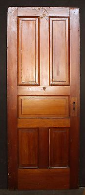 "28""x71"" Antique Vintage Solid Wood Wooden Interior Closet Pantry Door 5 Panels"