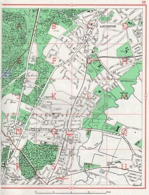 LOUGHTON. Buckhurst Hill Woodford Wells Epping Forest Chigwell. Essex 1964 map
