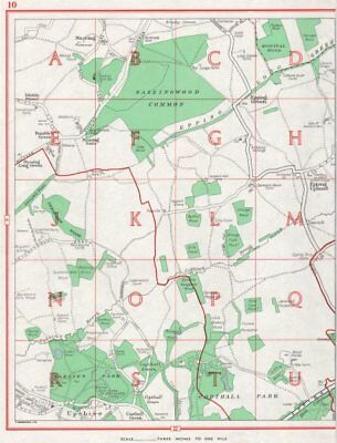 ESSEX. Nazeing Copthall Park Epping Green Upshire Waltham Abbey 1964 old map