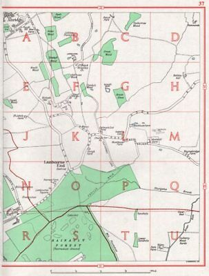 ESSEX. Chigwell Row Lambourne End Abridge Hainault Forest 1964 old vintage map
