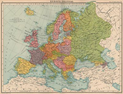 EUROPE-POLITICAL. Shows Saar under League of Nations administration 1924 map