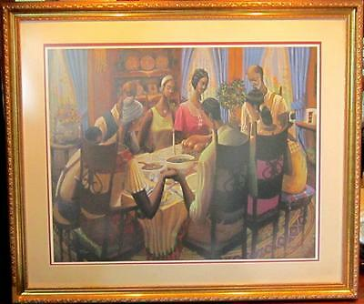"African American Art ""Blessings II"" Limited Edition Signed Print  John Holyfield"