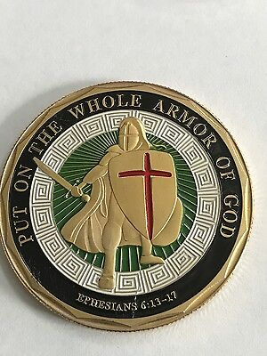 """Put on the Whole Armor of God"" Challenge Coin - USA SHIP!"