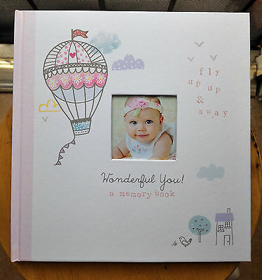 CR Gibson WONDERFUL YOU Pink Hot Air Balloon Baby Girl Memory Keepsake Book