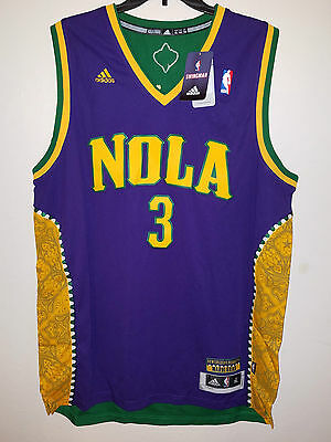 NBA New Orleans HORNETS Authentic Adidas Mardi Gras CHRIS PAUL Jersey XL 6f9f75208
