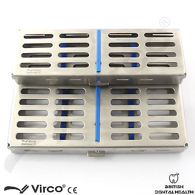 2 X Sterilization Cassette Rack Tray Hold 5 & 10 Dental Surgical Ortho Tools CE