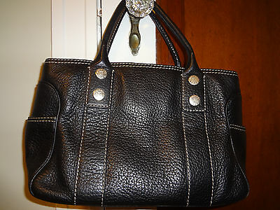 Authentic Michael Kors black Leather Hobo shoulder bag.