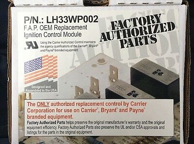 Carrier Payne Bryant LH33WP002 A / LH33WP002A Ingnition Control Module Board NEW