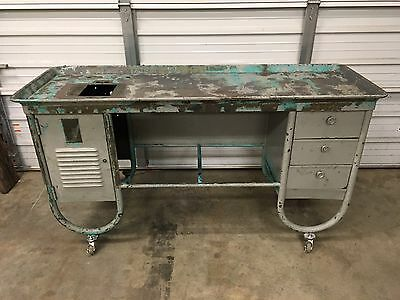 South Bend Heavy 10 Lathe Desk Cabinet Bench For 4' Bed