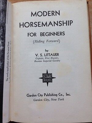 Antique Book-Modern Horsemanship For Beginners By V. S. Littauer 1934