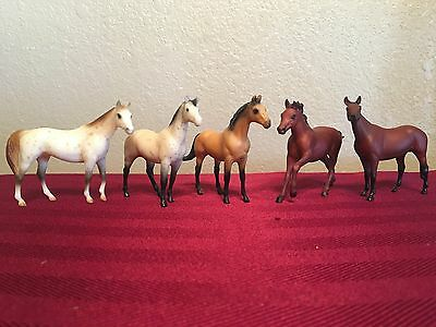 5 Breyer Horses SM Sears SR Holiday Catalog Stablemate Assortment Set from 1989