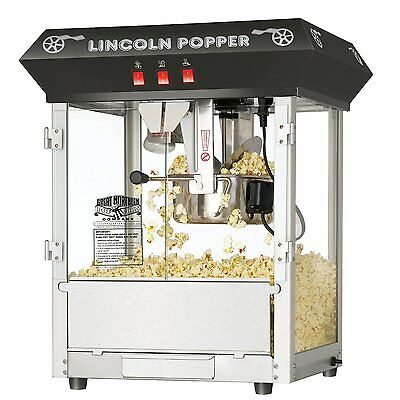 Movie Theater Popcorn Machine 8 oz Black Commercial Industrial For Sale Antique