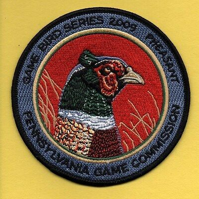 Pa Pennsylvania Game Commission NEW 2009 Pheasant Game Bird series patch