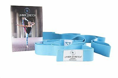 Limber Stretch Advanced Yoga Flexibility Strap for Workout & Physical Therapy...