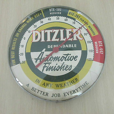 1960's Ditzler Paint Automotive Finish Advertising Thermometer/original Owner