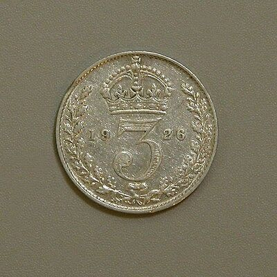 1926 Great Britain George V Silver Three Pence