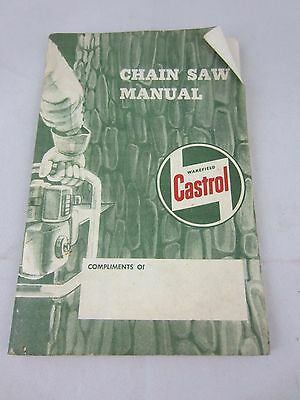 Castrol Oil Chain Saw Manual French & English Advertising Canada Booklet 30 page