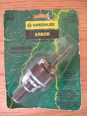 "Greenlee Textron 38506 Arbor - Round 1/2"" Shank With 3 Flats"