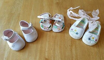 Baby Girls Shoes Lot, Size 0, Crib Shoes, Soft Sole
