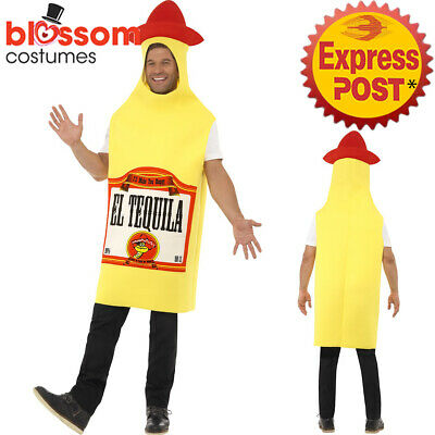 CA187 Tequila Bottle Mens Unisex Stag Night Mexican Mexico Dress Costume Funny