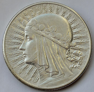 Poland 10 Zlotych, 1932, Queen Jadwiga, London mint ,