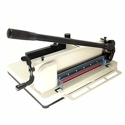 """HFS Heavy Duty Guillotine Paper Cutter 12"""" Commercial Metal Base A3 A4 Trimmer"""