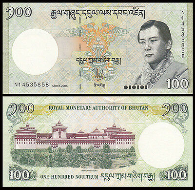 Asia - Bhutan 100 Ngultrum Paper Money,2006,P-32,Uncirculated .1Pieces