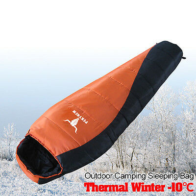 Water resistant Outdoors -10C Degree Ultralight Mummy Down Sleeping Bag Camping